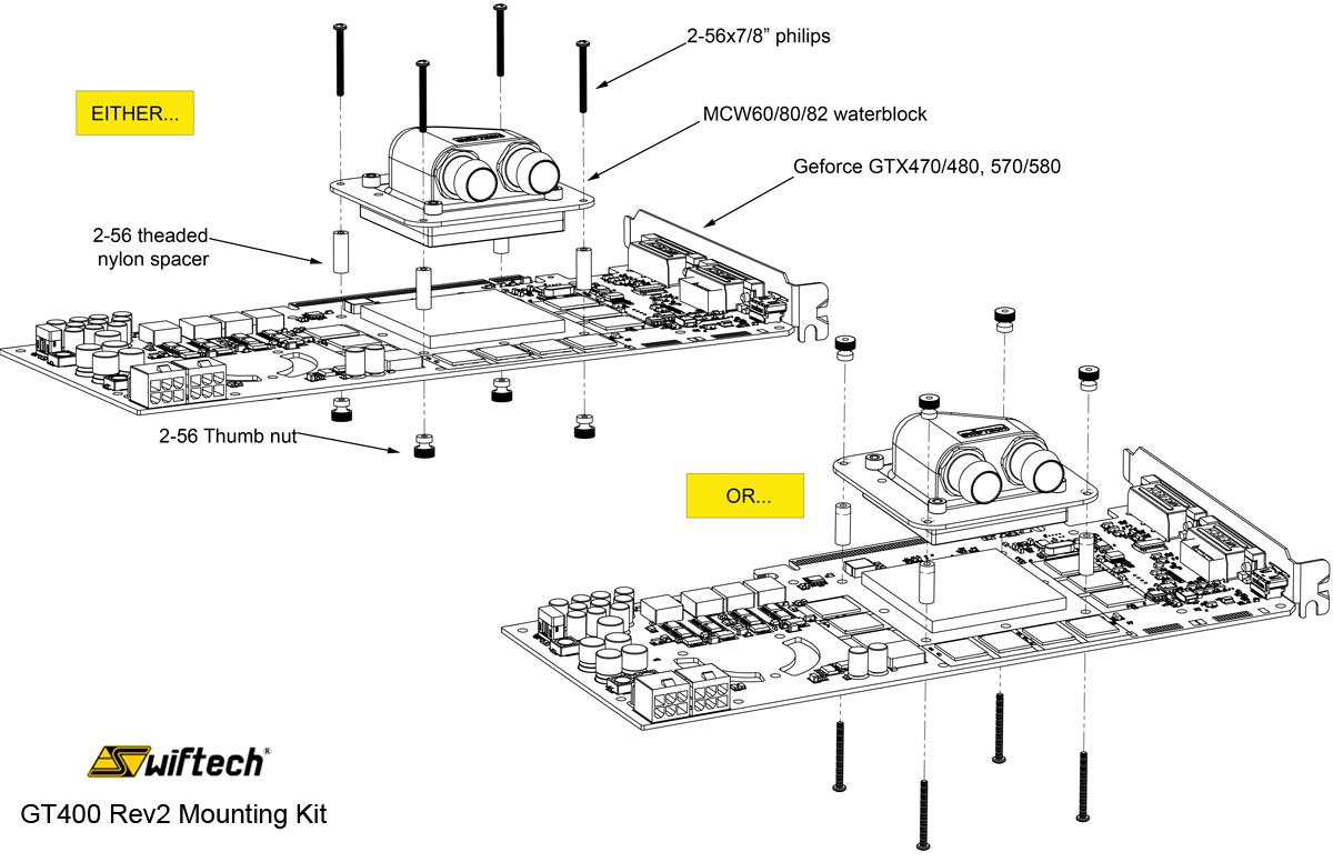mounting kit for mcw60  80  82 to nvidia u00c2 u00ae geforce u00c2 u00ae gtx470