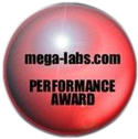 Link to Performance Award at Mega-Labs.com