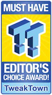 Tweaktown's Editor's Choice Award