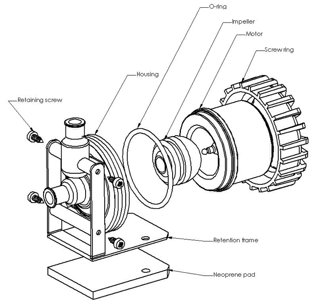 MCP655 Exploded view