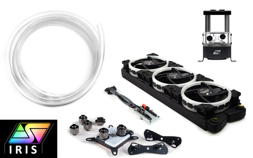 Kit provided by Swiftech— The liquid cooling block should be omitted for our application